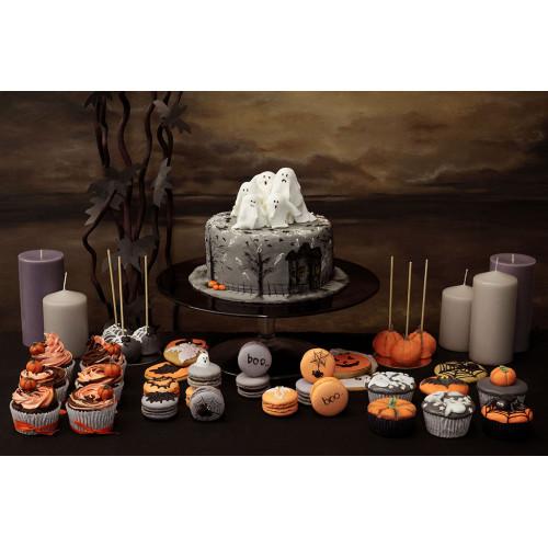 Кейк попсы на хеллоуин с паутиной