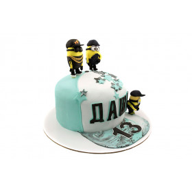 Торт с Кепкой и миньонами