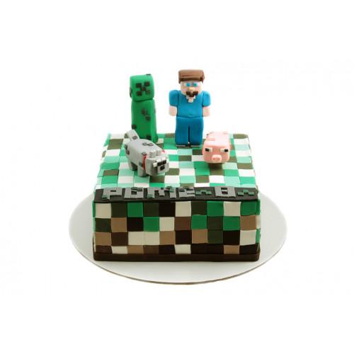 Торт Майнкрафт из мастики