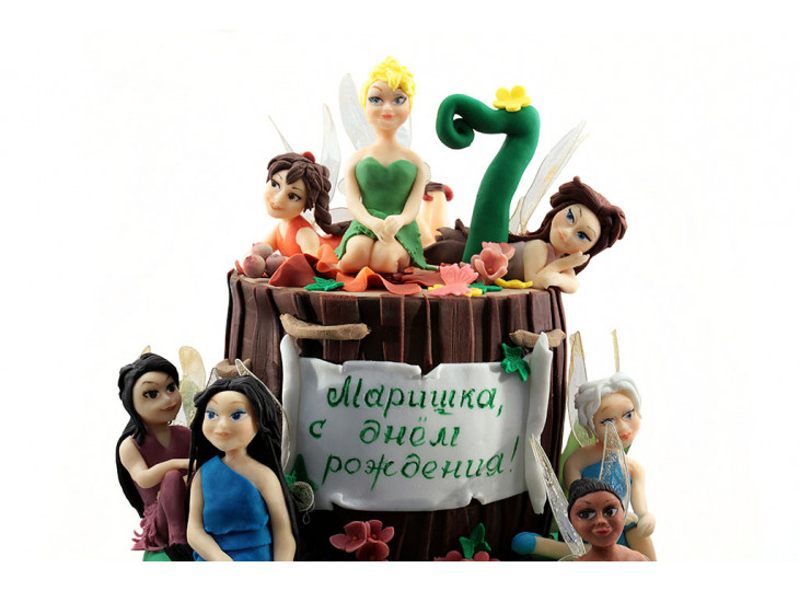 Торт с феями винкс