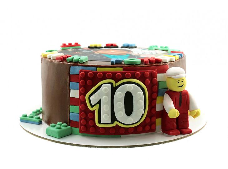 Торт Лего с фотопечатью