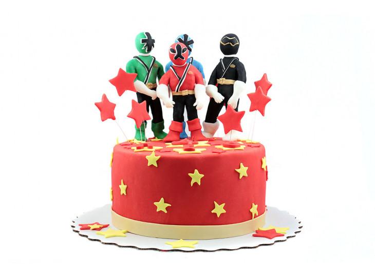 Торт Могучие Рейнджеры