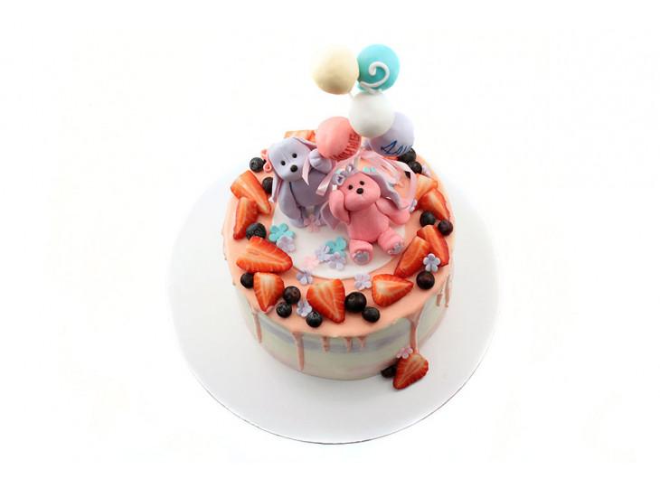 Торт для девочек двойняшек