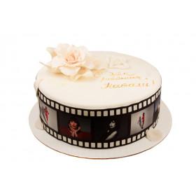 Торт с фотопечатью для девушки