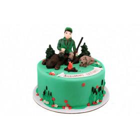 Торт для охотника из мастики