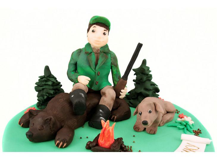 Охотник с медведем