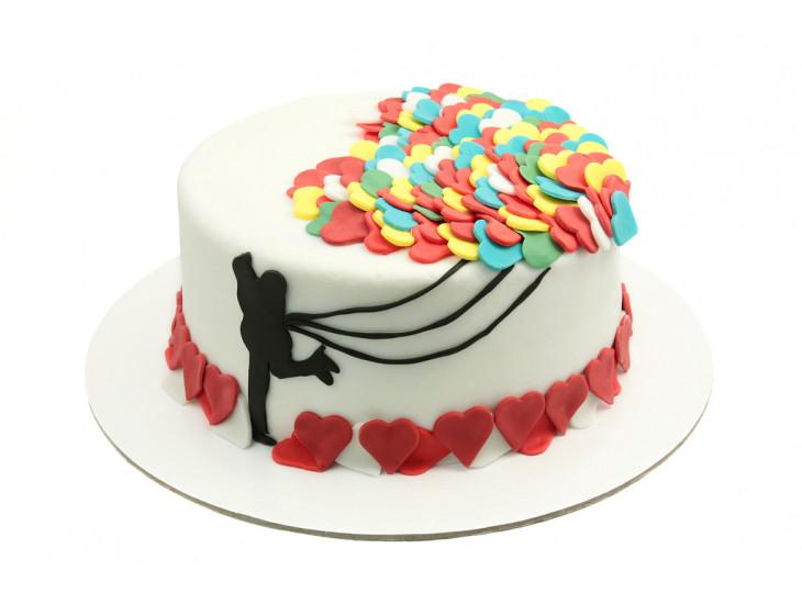 Торт для девушки с силуэтом