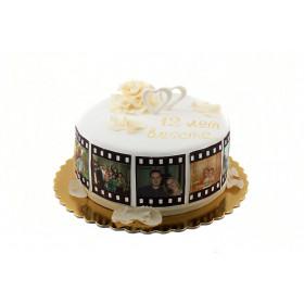 Торт на юбилей с фотографиями