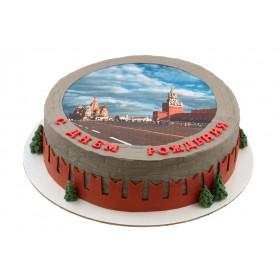 Торт Москва с фотопечатью