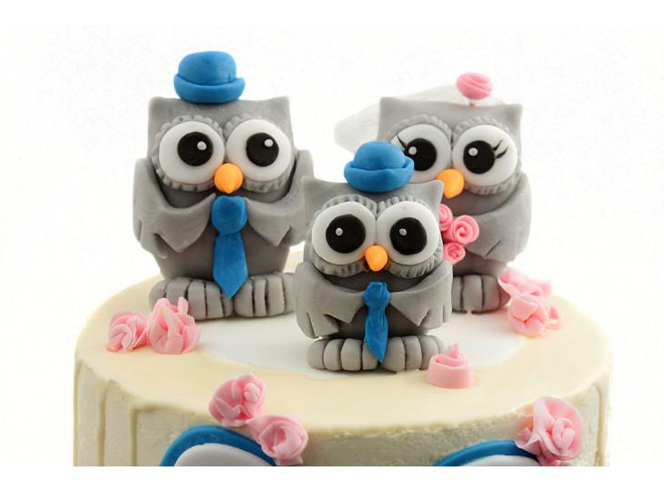 Свадебный торт с совами