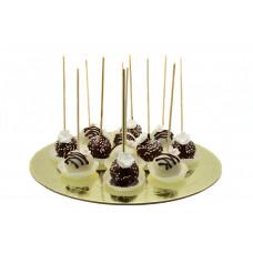 Кейк попс на свадьбу в шоколаде