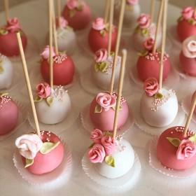 Кейк попс на свадьбу с цветами