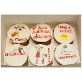 Капкейки на день рождения с рисунком