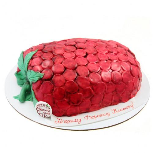 Торт малина из мастики