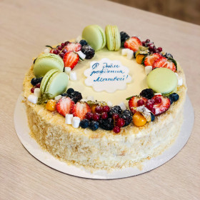 Торт Наполеон с Макаронс