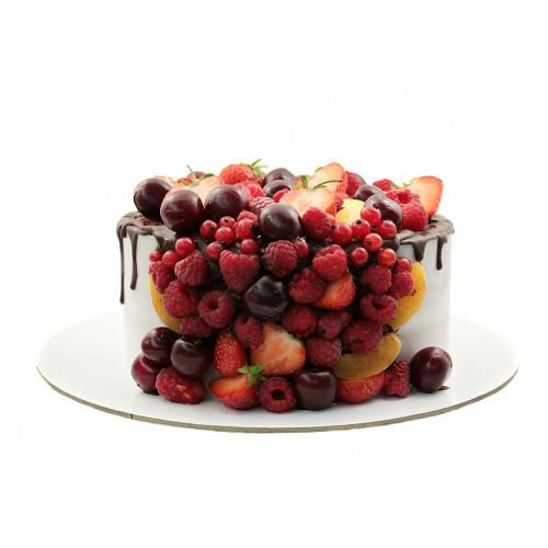 Торт фруктами без мастики