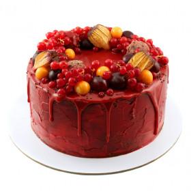 Торт Красный бархат с ягодами