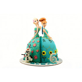 Торт Анна и Эльза в виде кукл