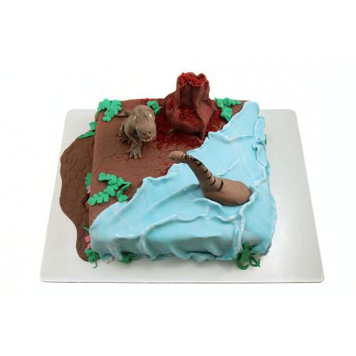 Детский торт с тиранозавром Рекс