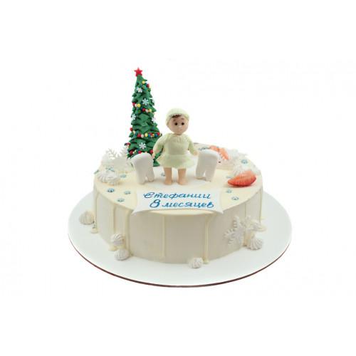 Детский новогодний торт для девочки