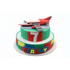 Торт лего Самолет
