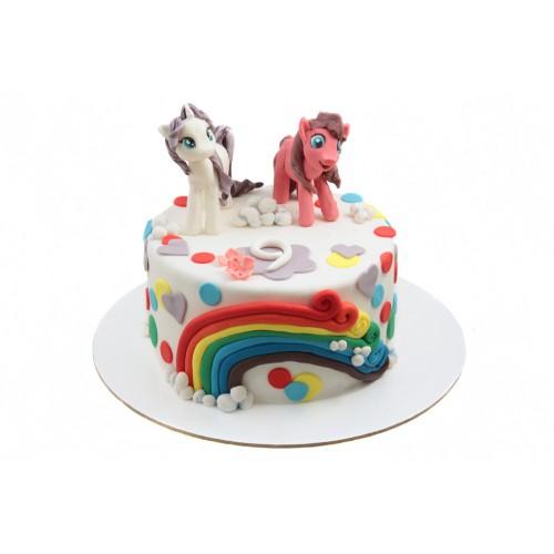 Торт Литл Пони с радугой
