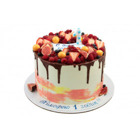 Торт без мастики на один годик