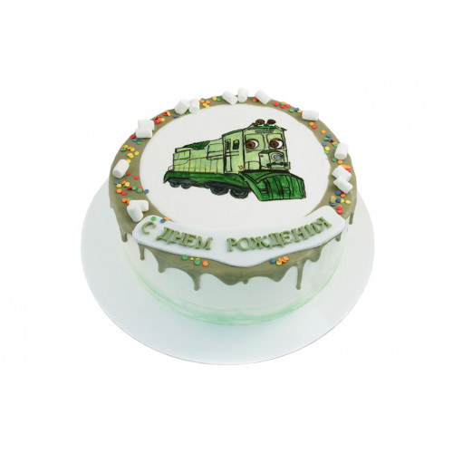Торт Торт Паровозик рисованный