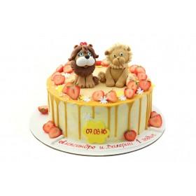 Торт с львятами