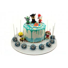Торт Щенячий патруль с кейк попсами