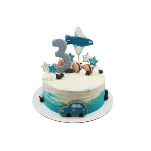 Торт с пряниками для мальчика