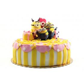 Торт Миньоны для девочки