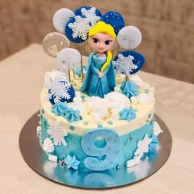 Торт с маленькой Эльзой