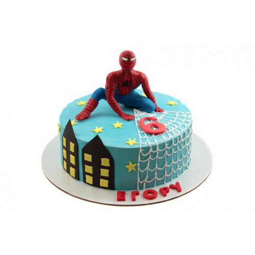 Детский торт спайдермен из крема