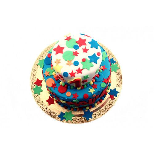 Торт для малыша из мастики