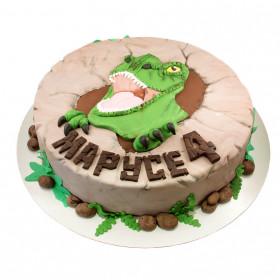 Торт с динозавром Рекс