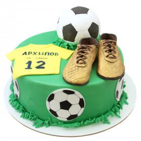Торт с мячом и бутсами