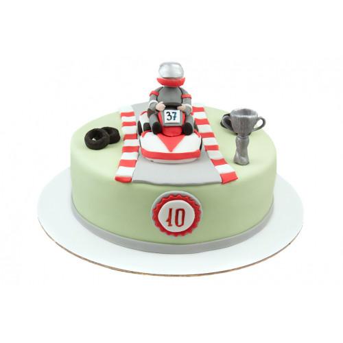 Детский торт гонщик