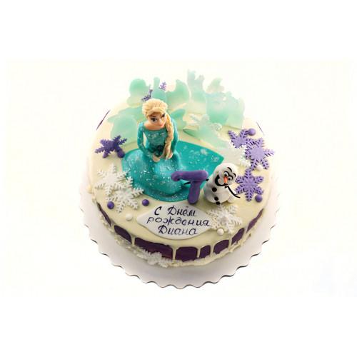 Торт Эльза и Олаф без мастики