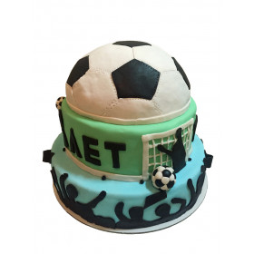 Двухъярусный торт Футбольный мяч