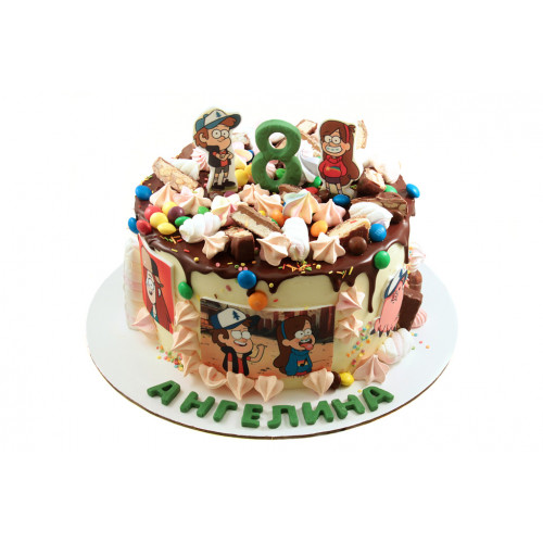 Детский торт Гравити Фолз без мастики