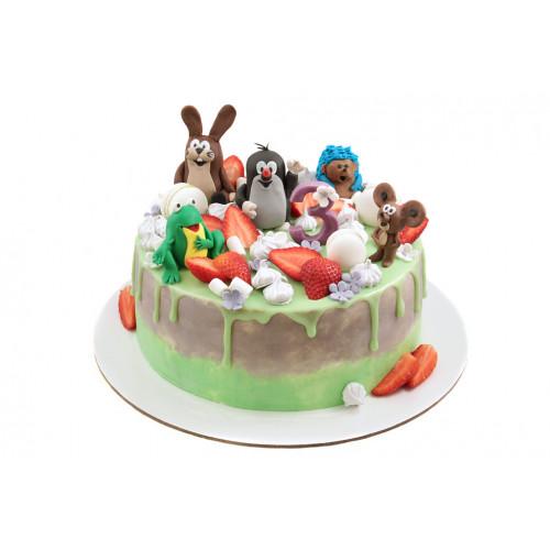 Детский торт мультик крот