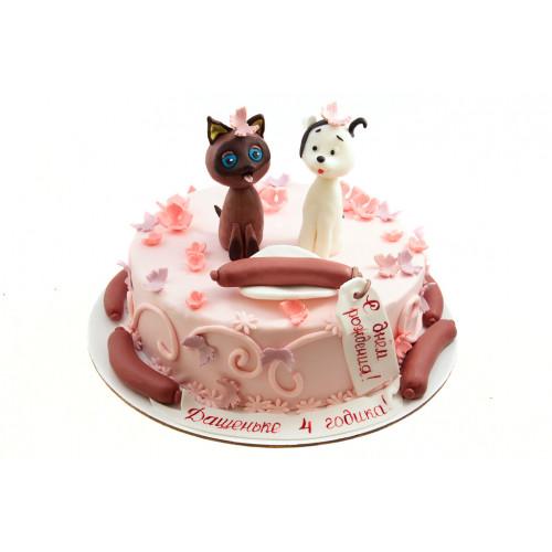 Торт котенок Гав из крема