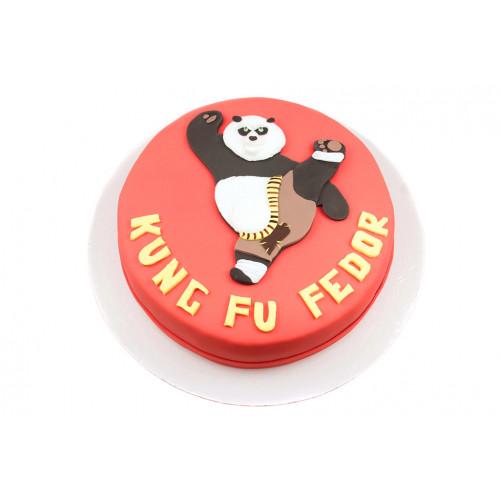 Детский торт кунфу панда
