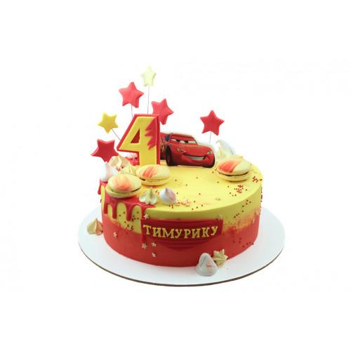 Детский торт для мальчика молния маквин