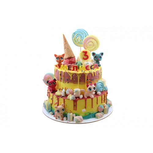 Торт для девочки на три года