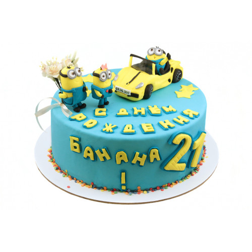 Торт Миньоны с машиной