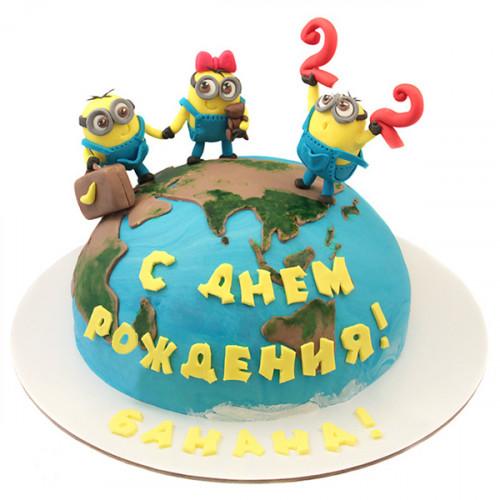 Торт с миньонами на планете Земля