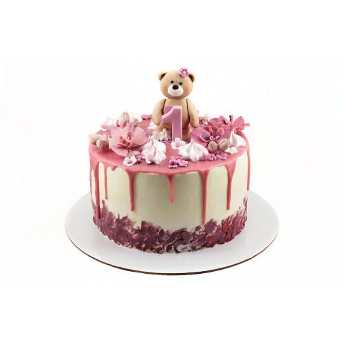 Детский торт с глазурью