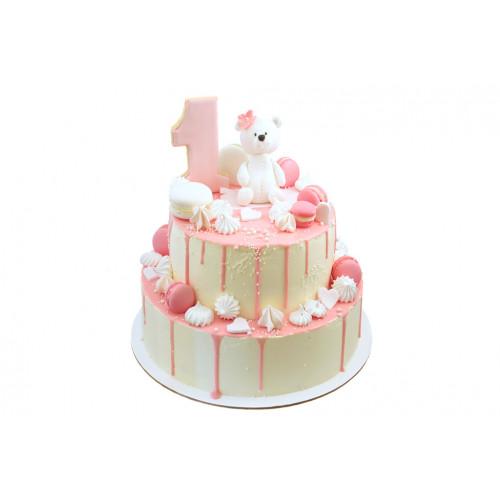 Торт на 1 год с мишкой